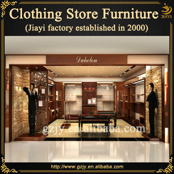 design retail chinese clothing store with clothing display furniture