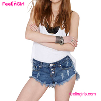 High Quality Blue Short Denim Women Funky Jeans Low Price
