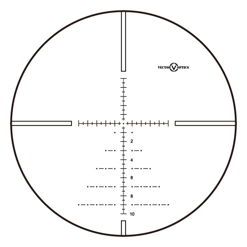 Vector Optics Paragon 5-25x56 Hunting Rifle Scopes with German Tech 1/10MIL adjustment MIL Reticle Water Proof 30MM