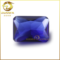 octagon shape rough blue sapphire glass for stone island clothing