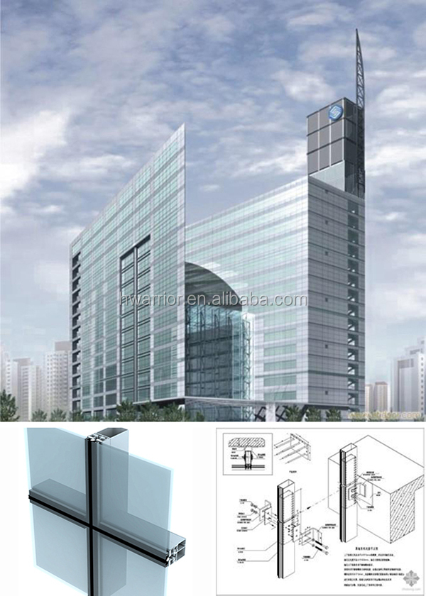 Invisible Frame Glass Curtain Wall