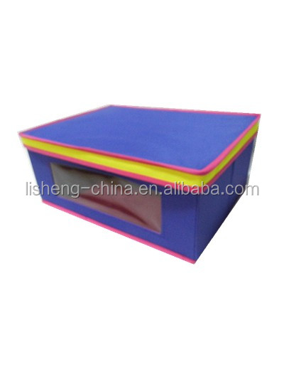 storage box with lid and PVC window M#