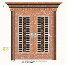 Luxury royal metal double doors exterior metal door