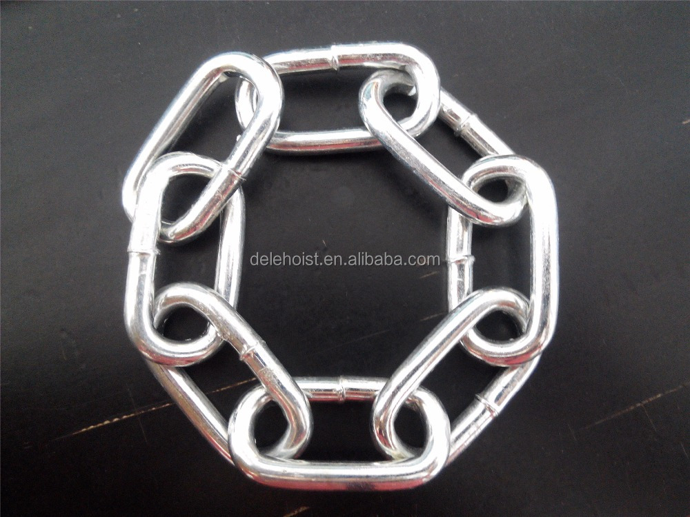 DIN 5685 Galvanized Alloy Steel Long/short Link <strong>Chain</strong> 2mm-13mm