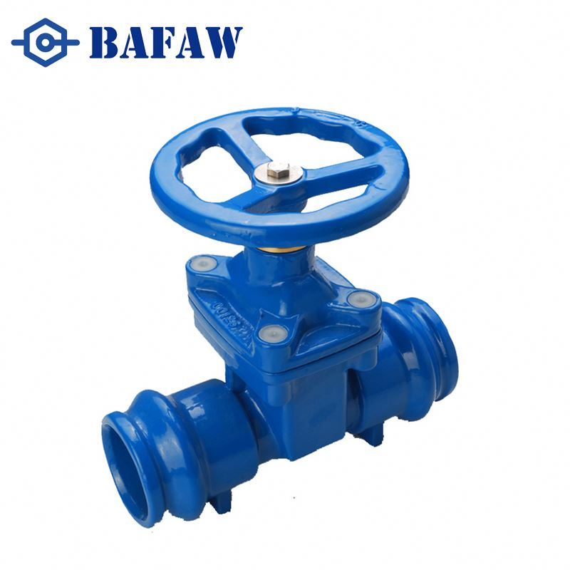 Ductile grey cast iron knife expanding wedge gate valve