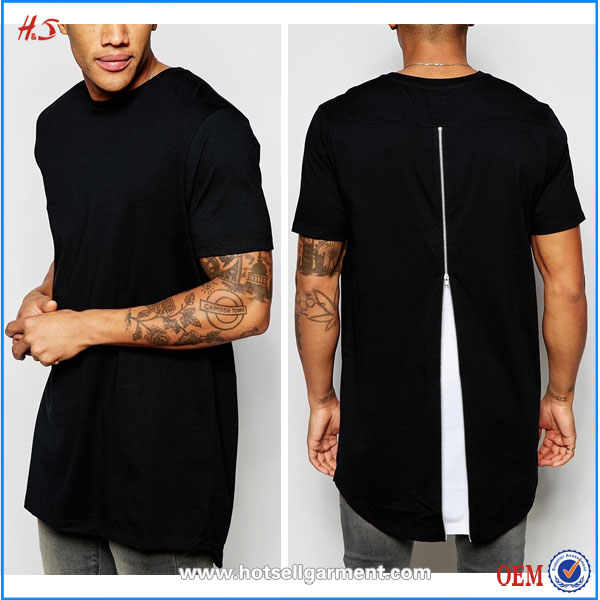 Super Longline High Quality T shirts With Contrast Pocket High Fashion Man Clothes From Wholesale Boutique Clothing China