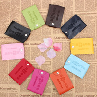 cheap crafts pu leather Card holder Card purse For Id Card