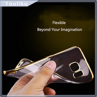 2016 new Transparent Back Cover Clear soft TPU silicon Phone Case for samsung S6 / 6 edge/s7
