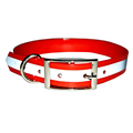 2017 Safe And High Quality Tpu Dog Collar With Reflective Tape For Greyhound Pet Tracker