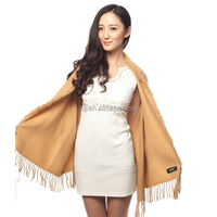 10% cashmere 90% blended wool scarf shawls with fur
