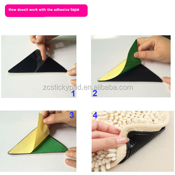 Sticky rug and carper gripper with pu gel material washable and reusable