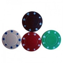 Engraved Round Clay Colored Gold Poker Chips For Casino