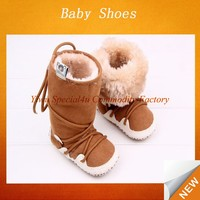 Warmly baby winter shoes plush children snow boot SFBS-0097