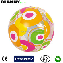 promotion mini size standard poly bag colorful beach toy one layer beach ball