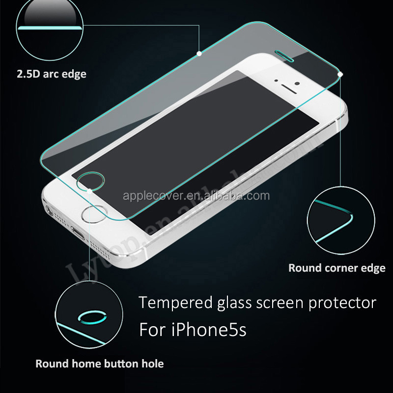 Factory Direct Sale Ultra Thin 9H Real Tempered Glass Screen Protector For iphone 4/4S /5/5S