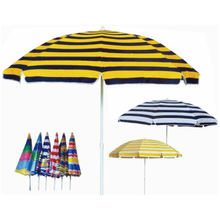 Metal Frame 2.4M 190T polyester Promotion Beach Umbrella
