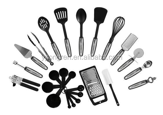 private labelling best selling kitchen gadgets 25-piece kitchen utensils set