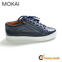 J001-14 new arrival dark blue casual footwear, wholesale comfortable footwear lace-up