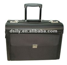 leather pilot case / pvc trolley briefcase with trolley wheels leather bags men X8006S100024