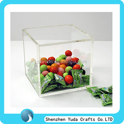 durable eco friendly lucite candy box acrylic containers for food