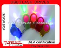 2012 new arrival customized logo waterproof LED usb flash drive USB2.0 2G 4G 8G 16G