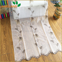 china supplier curtain designs embroidery sheer curtain fabric