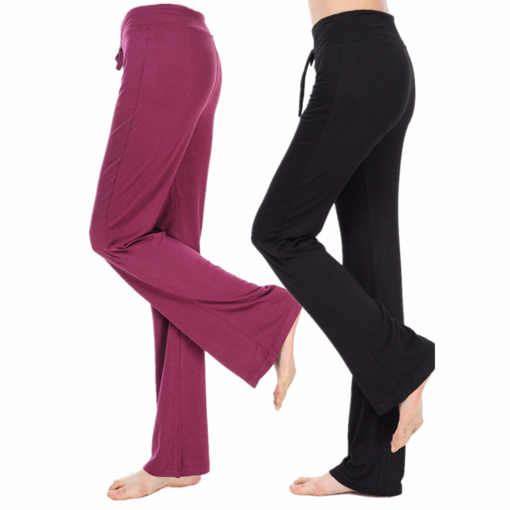 <strong>Women</strong> Straight Dancing Modal Trousers Workout Ladies Baggy Style Solid Color Sportswear yoga pants