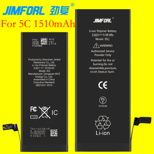 jimforl original battery for iphone 5c 1510mAh one year warranty oem battery for iphone 5c battery