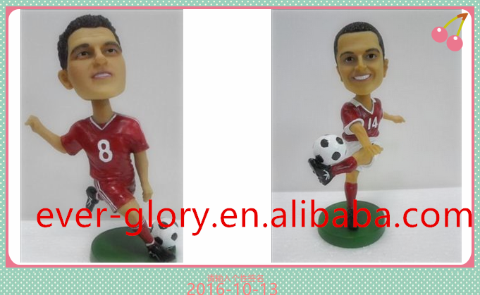 custom made football figures plastic,action football player