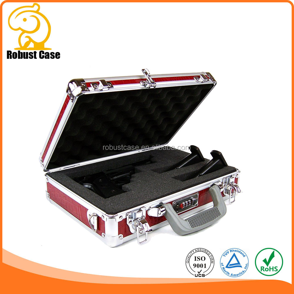 Aluminum Framed Hard Locking Pistol Gun Case