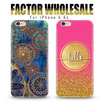 "2016 New Hot Sell 3D Bling Bling Luxury Vintage Cell Phone Case Cover For iPhone 6 6S 4.7"" Transparent Patterns Mix"