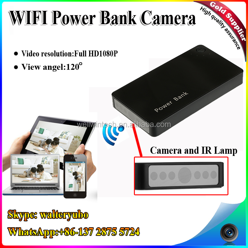 Factory WIFI Power bank Hidden Camera,720P HD Motion Detection Hidden Camera With Wifi Power Bank