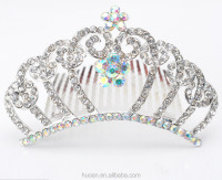 New arrived flower girl birthday tiara for adults latest fashion wholesale tiara