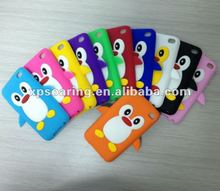 penguin silicon case back cover for ipod touch 4