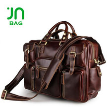 JIANUO Leather brand name handbags fashion latest men handbags made in china