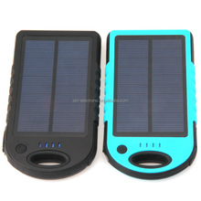 Factory supply 10000mah Solar Power Bank Portable external battery pack Charger solar charger For all phone