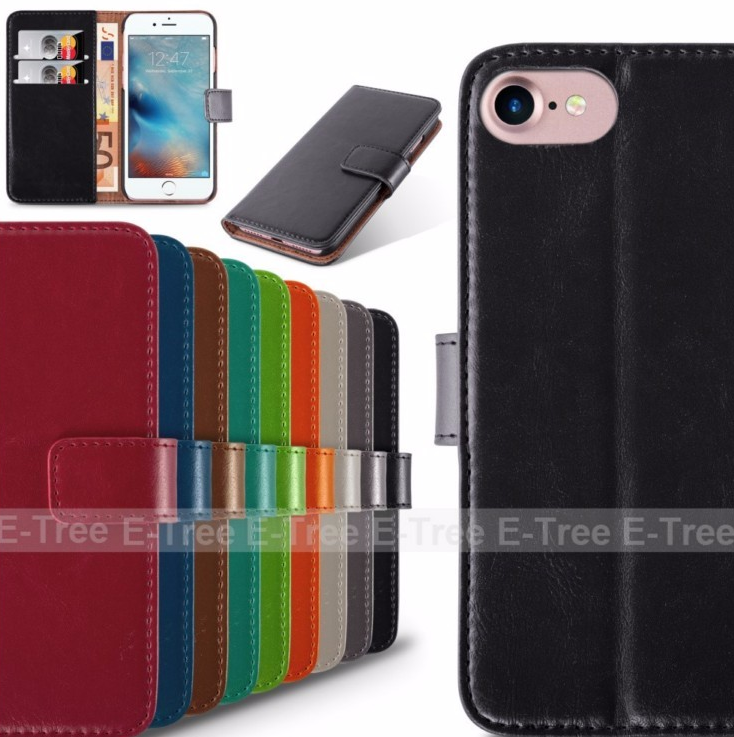 New business offer professional photograph wallet stand design pu leather case cover for iphone 7