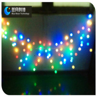 led curtain lights copper wire string and battery operated ourdoor use led christmas light