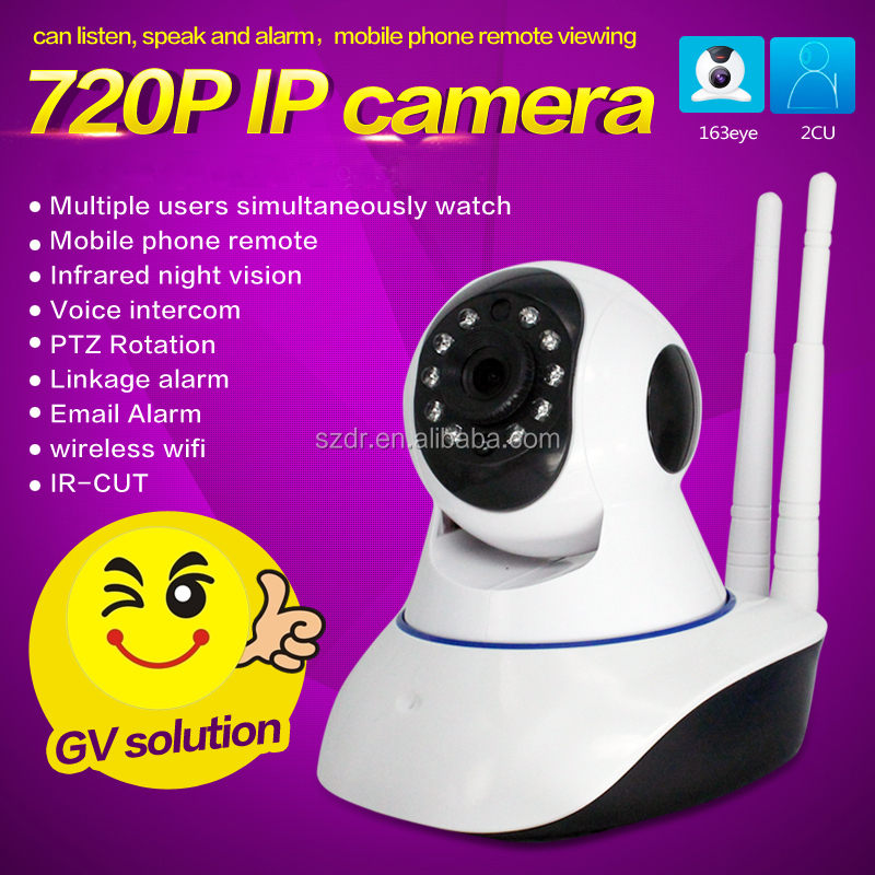 1MP 720P wireless security alarm system h.264 ptz ip wifi camera outdoor indoor ptz