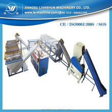 Dirty plastic film recycling machine with hot washing