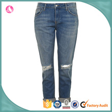 Wholesale price jeans denim jeans women ripped out damaged pant