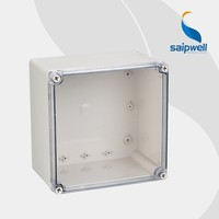 saipwell High quality 125*125*100MM abs plastic enclosure with Transparent Cover