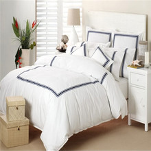 High quality hotel cotton bedding percale bedsheet