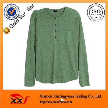 mens henley shirts wholesale custom design t shirt bamboo viscose long sleeve t shirt