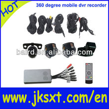 360 degree full around view dvr mini hidden taxi camera system