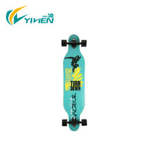 4 wheels maple longboard, customized blank deck wholesale