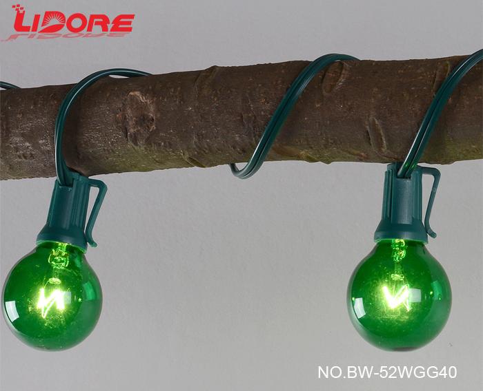 Lidore New Decoration G40 Globe Tungsten Light Bulbs Holiday String Light - Buy G40 String Light ...