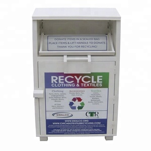 Stackable locker cabinets Metal Clothing Donation Bin