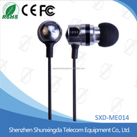 SXD High Quality Headphones Stereo 3.5mm Jack Bass In Ear noise isolating Earphones MP3 MP4 and Android Mobile Phone MIC