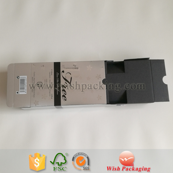 Gun-metal colour recycled inner untreated corrugated board makup Perfume bottle coated matte finish paper package box